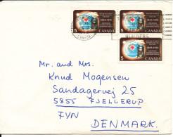 Canada Cover Sent To Denmark Edmonton 17-6-1968 - Ohne Zuordnung