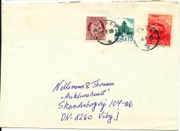 Norway Cover Sent To Denmark Nanset 16-9-1988
