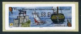 """LISA 2 - """"ECOPLI 0,68 EUR - Fêtes Maritimes Internationales - Brest - 2016"""" - 2010-... Illustrated Franking Labels"""