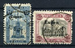 98662) ABSTIMMUNGSGEBIETE Eupen # 16+17 Gestempelt Aus 1920, 50.- € - Germania