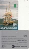 NORFOLK ISL. - The Bounty, First Issue $20(series No 1 SCC), Tirage %25000, Used - Norfolk Island