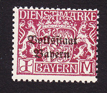 Bavaria, Scott #O33, Mint Never Hinged, Coat Of Arms Overprinted, Issued 1918 - Bavière