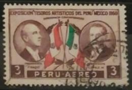 PERÚ 1962 Correo Aéreo. Exposicion De Los Tesoros Culturales Peruanos En México. USADO - USED - Peru