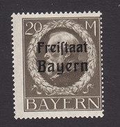 Bavaria, Scott #211, Mint Never Hinged, King Ludwig III Overprinted, Issued 1919 - Bavaria