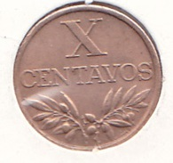 Portugal - 10 Centavos (X) 1962 - XF/SUP - Portugal