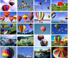 20 Postcards Of Hot-air Ballon Balloons,  Postkarte Carte Postale - Montgolfières