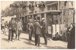 65 - LOURDES - La Cour De L'Hôpital / Receveur De Tramway ++++ ND Phot., #103 ++++ Pour La BELGIQUE, 1912 ++++ RARE - Lourdes