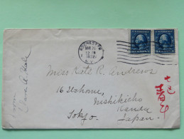 USA 1922 Cover Rochester To Tokyo Japan - Washington