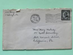 USA 1923 Cover Pittsburgh To California Pa - Harding