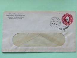USA 1932 Stationery Cover Worcester - Washington