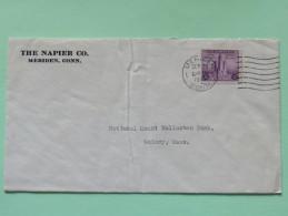 USA 1933 Cover Meriden Conn. To Quincy - Chicago Federal Building