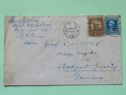 USA 1933 Cover Wall Street N.Y. To Germany - Washington - Harding