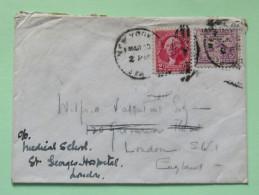 USA 1933 Cover N.Y. To London U.K. - Washington - Headquarters Newburgh