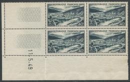 France 1949 Vallée De La Meuse. #842A Coin Daté '11.5.49'. Beau Sans Charnière CV 10,00€