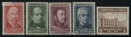 Chile 1942 University 4v (without Airmail), (Mint NH), Education - Science