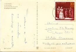 K9725 - DDR (1973) 133 Schwedt (postcard: Schwedt) Tariff: 10 Pf (stamp: King Lear, Regie: Langhoff) - Famous People