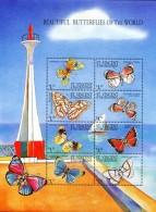 HD0102 Saint Vincent 2001 Butterflies And Lighthouse S/S MNH - Schmetterlinge