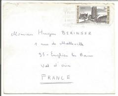 BELGIQUE LETTRE DE BRUXELLES POUR LA FRANCE 1968 - Marcophilie