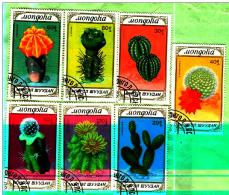MONGOLIA..THE CACTI.SET OF 7 STAMPS.1989 USED.   - Full  Set  - Used (0)  Lot - 31 -2017 - 102
