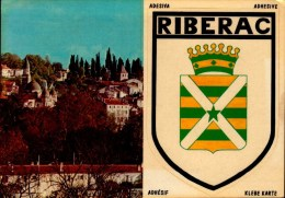 24-RIBERAC..2 VUES DONT BLASON ADHESIF...CPM - Riberac