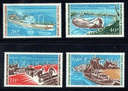 1971  Industrie De La Pêche Au Cameroun: Navires De Pêche  Poste Aérienne Série Complète ** - Cameroon (1960-...)