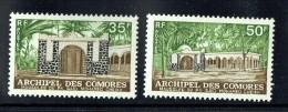 1974   Mausolée De Said Mohamed Cheik  Série Complète  De 2 Valeurs Yv 89-90 ** - Unused Stamps