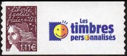 France Personnalisé N° 3729 C,** Marianne Du 14 Juillet De Luquet  Adhésif Le 1.11 Eur - ERREUR DE COULEUR - Logo Timbre