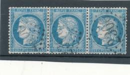 N°60A TYPE I BANDE DE 3 TIMBRES VARIÉTÉ 37/38/39 B.2.