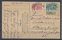 5 Kr. GA - Karte Mit Zusatzfrankatur