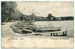 ALLEMAGNE : LYCHEN IM UCKERMARK - PROMENADE AM OBERPFUHL / POSTMARK - LYCHEN 1907 - Lychen