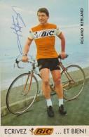 CYCLISME - Roland BERLAND - Pub BIC - Avec Autographe - Autres Collections