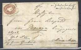 Mi. Nr. 21 Auf Brief Von HALLEIN (20 MüP) - Briefe U. Dokumente