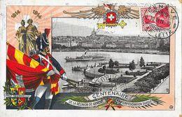 Centenaire De La Réunion De Genève à La Confédération Suisse 1814-1914 - Carte GTR N° 1, Vue Du Port - Evénements