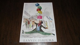 LANVIN PARFUMS- ANCIENNE PUBLICITE DE GUILLAUME GILLET - ANNEE 1954 - Advertising