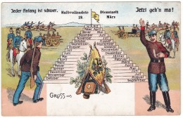 #6522 Militaria, Old UPU Postcard Unused: WW1, Austro-Hungarian Army, Calendar - Guerre 1914-18