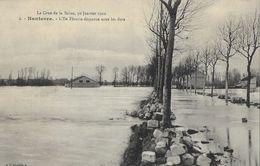 La Crue De La Seine 30 Janvier 1910 - Nanterre, L'Ile Fleurie Disparue Sous Les Flots - Carte L'Abeille Non Circulée - Inondations