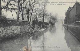 Crue De Janvier 1910 - Courbevoie, Rue Sainte-Marie - Publicité Kub - Carte A. Noyer Non Circulée - Inondations