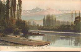 GRENOBLE - L'Isère à L'Ile D'Amour Et Les Alpes
