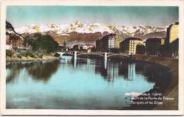 GRENOBLE - Pont De La Porte De France - Les Quais Et Les Alpes