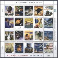 Marshall Islands 2016 Honoring The Art Of Howard Koslov Space WWII Churchill Minisheet MNH