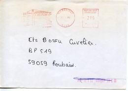 EMA Architecture Grue,F.Delvigne&Cie 59 Busigny,lettre Obliterée 19.9.1984,flamme Peintre Matisse,Herbin-Gromair Le Cate