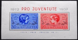 Switzerland 1937    MiNr.318-19 Block 3  MNH  (**)  (lot  C 2693 ) - Blokken