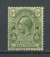 TURKS CAIQUES 1912 N° 58 * Neuf = MH Trace Charnière Cote 0.75 € Effigie Georges V