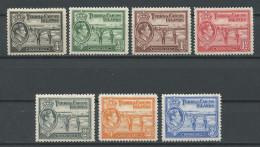 TURKS CAIQUES 1938 N° 120/126 * Neufs = MH Trace Charnière Cote 5.50 € Ramassage Du Sel
