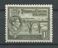 TURKS CAIQUES 1938 N° 128A * Neuf = MH Trace Charnière Cote 1 € Ramassage Du Sel