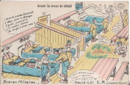 Scenes Militaires  Avant La Revue De Detail - Humoristiques