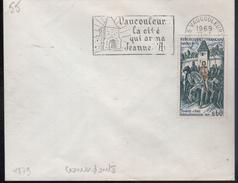 """Lettre 55 Vaucouleurs 11-1 1969 """"Vaucouleurs La Cité Qui Arma Jeanne D'Arc (concordance Avec Le Timbre N° 1579) Anomalie"""