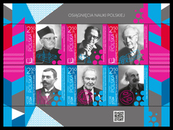Poland 2016, Personalities, Writers, Byologist, Chemist, 6val In BF - Nuevos