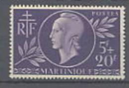 Martinique N° 198 X  Entraide Française, Trace De Charnière Sinon TB.