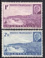 Martinique N° 189 / 90 X  La Paire Maréchal Pétain, Trace De Charnière Sinon TB.
